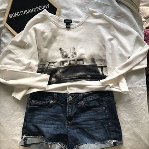 Cropped Wet Seal travel VW Bus graphic tee M
